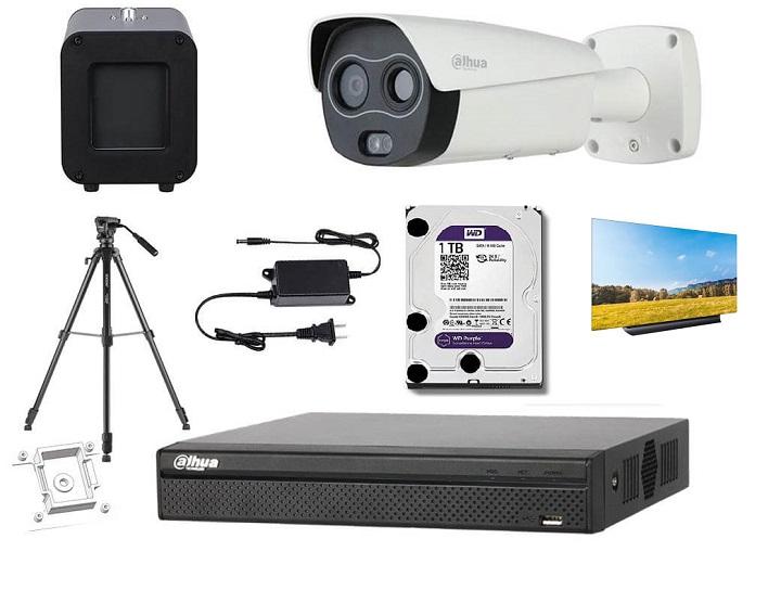 Gói camera đo nhiệt độ từ xa tự động không tiếp xúc
