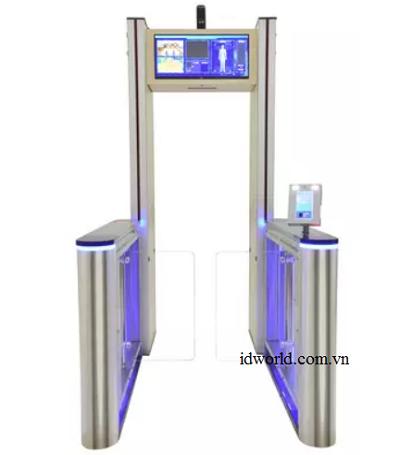 Cổng dò kim loại kiểm soát nhận diện khuôn mặt đo thân nhiệt AT-300V