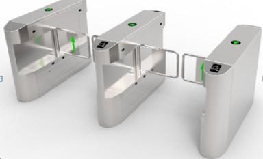 Cổng an ninh kiểm soát ra vào swing barier SMT-AS01