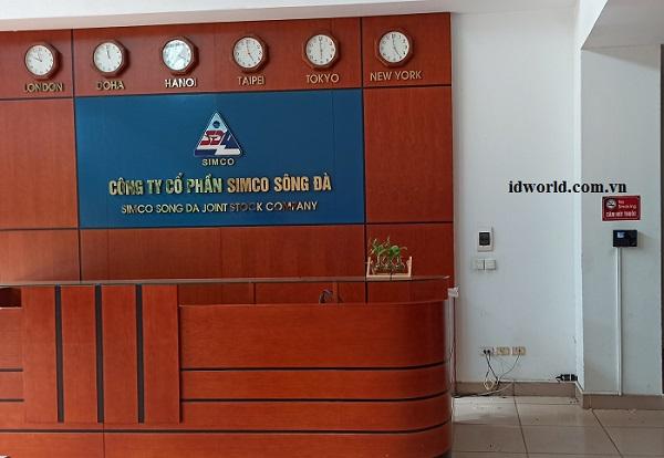 Lắp đặt máy chấm công cho SIMCO Sông Đà