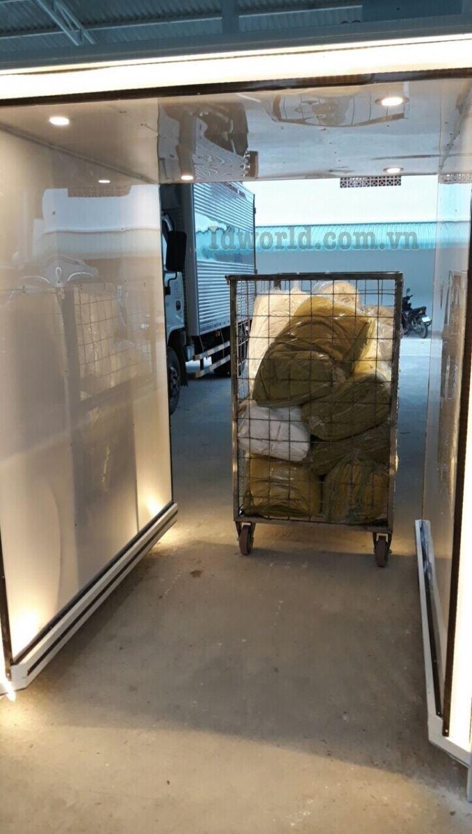 Giới thiệu cổng từ RFID đọc đếm xưởng giặt là đầu tiên tại việt Nam